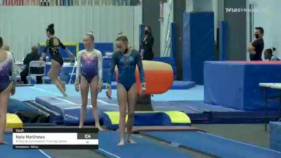 Nola Matthews - Vault, Airborne Gymnastics Training Center - 2021 American Classic and Hopes Classic