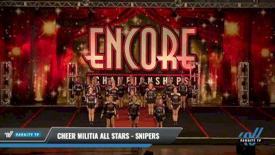 Cheer Militia All Stars - Snipers [2021 L3 Junior - D2 Day 2] 2021 Encore Championships: Pittsburgh Area DI & DII