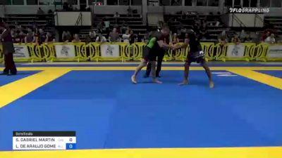 STEPHEN GABRIEL MARTINEZ vs LUCAS DE ARAUJO GOMES 2021 Pan IBJJF Jiu-Jitsu No-Gi Championship