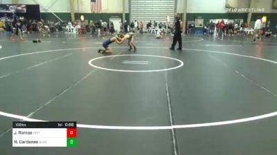 108 lbs Consolation - Jaime Ramos, Crete Wrestling Club vs Nick Dardanes, Bear Cave