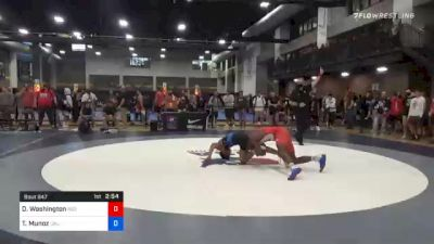 79 kg Quarterfinal - Donnell Washington, Indiana RTC vs Trent Munoz, California