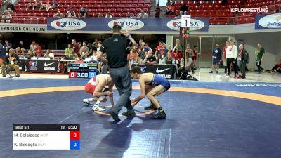 57 kg Quarterfinal - Michael Colaiocco, Unattached vs Kyle Biscoglia, Unattached