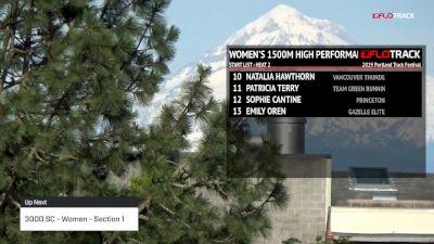 High Performance Women's 3k Steeplechase, Heat 1