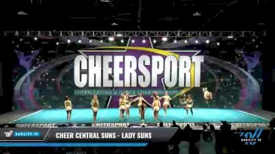 Cheer Central Suns - Lady Suns [2021 L6 Senior - XSmall Day 1] 2021 CHEERSPORT National Cheerleading Championship