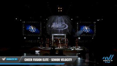Cheer Fusion Elite - Senior Velocity [2021 L4 Senior - Small Day 2] 2021 The U.S. Finals: Louisville