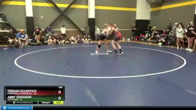 190 lbs Round 2 (3 Team) - Abby Swanson, Wisconsin vs Teegan Sulentich, Potentially Dangerous