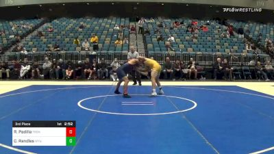 165 lbs 3rd Place - Ricky Padilla, Fresno State vs Casey Randles, Wyoming