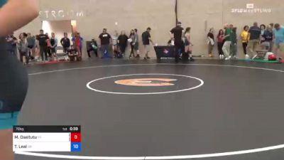 76 kg Quarterfinal - Kylie Welker, WI vs Emily Cue, CO