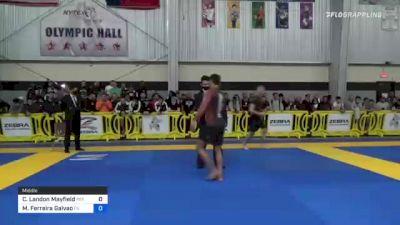 Clay Landon Mayfield vs Micael Ferreira Galvao 2021 Pan IBJJF Jiu-Jitsu No-Gi Championship