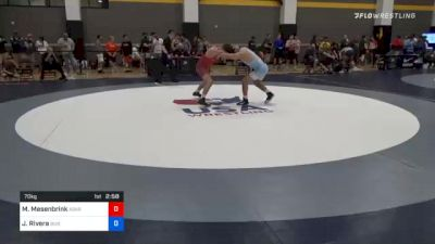70 kg Consolation - Mitchell Mesenbrink, Askren Wrestling Academy Lake Country vs Justin Rivera, Buies Creek Wrestling Club