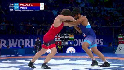 82 kg Final 3-5 - Saba Mamaladze, Georgia vs Ravi Malik, India