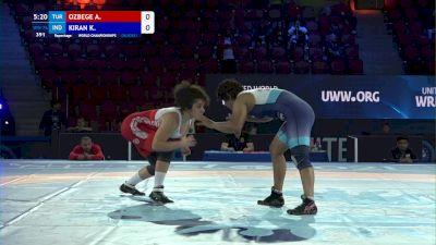 76 kg Repechage #2 - Aysegul Ozbege, Turkey vs Kiran Kiran, India