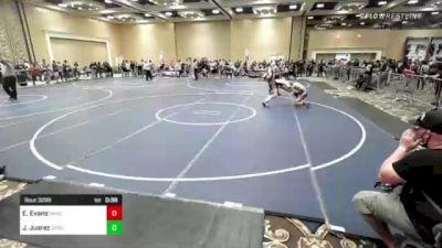120 lbs Consi Of 8 #2 - Easton Evans, Sanderson Wr Ac vs Julian Juarez, Stout Wr Ac