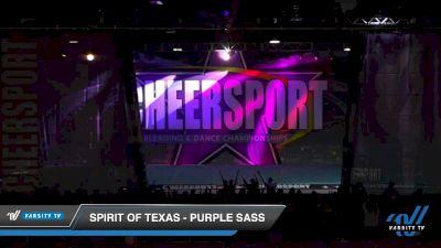 Spirit of Texas - Purple Sass [2020 Senior Small 3 Day 1] 2020 CHEERSPORT National Cheerleading Championship
