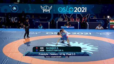 61 kg Final 3-5 - Ravinder Ravinder, India vs Arsen Harutyunyan, Armenia