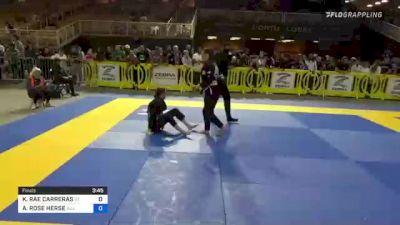 KAILANI RAE CARRERAS vs ALEXA ROSE HERSE 2021 Pan Kids Jiu-Jitsu IBJJF Championship