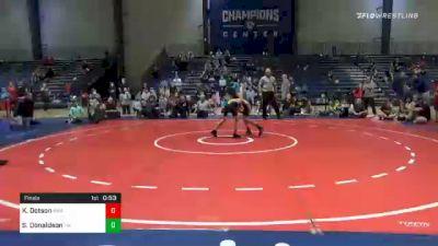 76 lbs Final - Kameron Dotson, Roundtree Wrestling Academy vs Samuel Donaldson, Teknique Wrestling