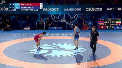 72 kg 1/2 Final - Malkhas Amoyan, Armenia vs Mohammad Mokhtari, Iran