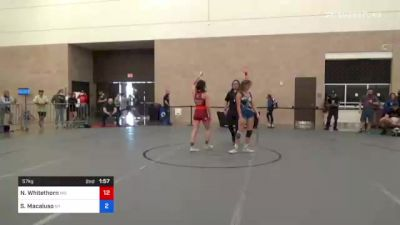 57 kg Consolation - Asia Nguyen-Smith, Il vs Sophia Smith, Wi