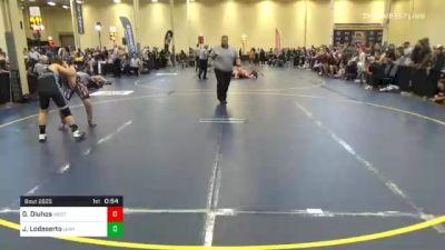 150 lbs 7th Place - Garrett Dluhos, Westmont Hilltop vs Josiah Lodeserto, Lewisburg