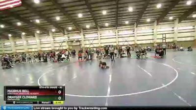 82 lbs Cons. Semi - Drayger Cloward, Uintah Utes vs Maximus Bell, Gold Rush Wrestling Academy