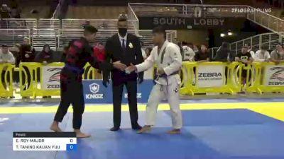 ETHAN ROY MAJOR vs TAKESHIRO TANINO KAUAN YUUKI 2021 Pan Jiu-Jitsu IBJJF Championship