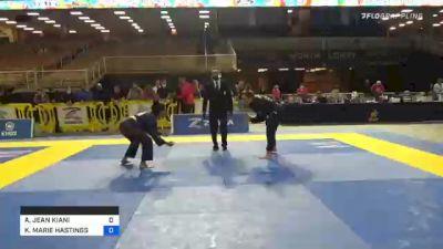 ANDREA JEAN KIANI vs KATHERINE MARIE HASTINGS 2020 World Master IBJJF Jiu-Jitsu Championship
