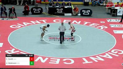 152 lbs Final - Ed Scott, DuBois vs Cameron Robinson, Council Rock North