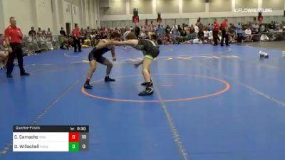 132 lbs Quarterfinal - Colton Camacho, Young Guns Black vs Gabe Willochell, Team Nauman Green