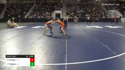 165 lbs Semifinal - Zane Mulder, Wartburg College vs Philip Rogers, United State Coast Guard Academy