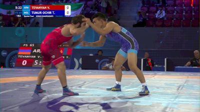 65 kg 1/4 Final - Vazgen Tevanyan, Armenia vs Tulga Tumur Ochir, Mongolia