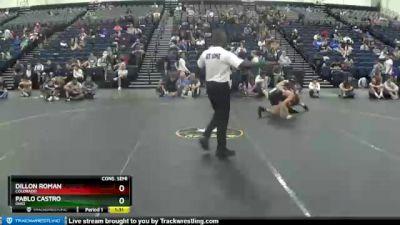 135 lbs Cons. Semi - Pablo Castro, Ohio vs Dillon Roman, Colorado