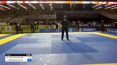 MAX DOS SANTOS GIMENIS vs LUIZ FERNANDO DE AZEVEDO PANZA 2020 Pan Jiu-Jitsu IBJJF Championship
