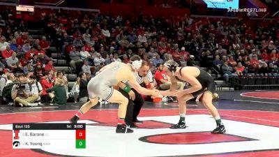 157 lbs Consolation - Eric Barone, Illinois vs Kaleb Young, Iowa