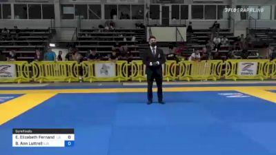 Emily Elizabeth Fernandez vs Bailey Ann Luttrell 2021 Pan IBJJF Jiu-Jitsu No-Gi Championship