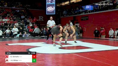 197 lbs Quarterfinal - Eric Schultz, Nebraska vs Hunter Ritter, Minnesota