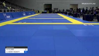 ANDREW HENRY TACKETT vs MAHMOUD M JABR 2021 World IBJJF Jiu-Jitsu No-Gi Championship