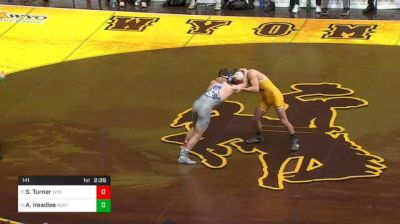 141 lbs Sam Turner, Wyoming vs AC Headlee, North Carolina