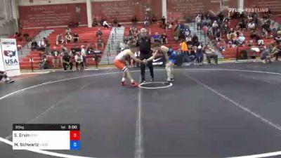 65 kg Prelims - Saul Ervin, Kentucky vs Mosha Schwartz, Northern Colorado Wrestling Club