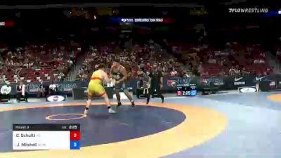 130 kg Round 3 - Cohlton Schultz, Sunkist Kids Wrestling Club vs Jacob Mitchell, Army (WCAP)