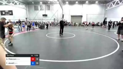 67 lbs 3rd Place - Brynn Engel, Midwest Black Mambas Team 1 vs Piper Weaver, BullTrained Women