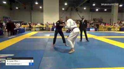 GEORGE Lazar Piro vs Mark E Hurshman 2021 American National IBJJF Jiu-Jitsu Championship