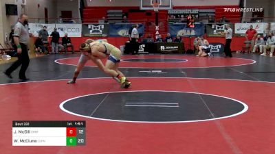 160 lbs Semifinal - Jack McGill, Spring-Ford vs Wayde McClune, Central Dauphin