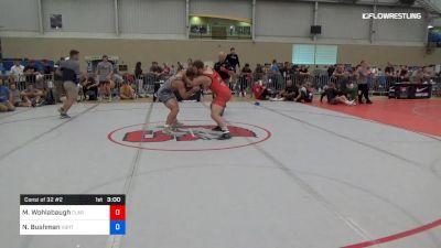 86 kg Consi Of 32 #2 - Max Wohlabaugh, Clarion RTC vs Noah Bushman, VBRTC