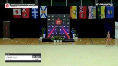 Julia Ivensky - Ball, Quebec - 2019 Canadian Gymnastics Championships - Rhythmic