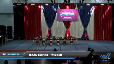Texas Empire - Wicked [2021 L3 Senior - D2 - Small Day 2] 2021 The American Spectacular DI & DII