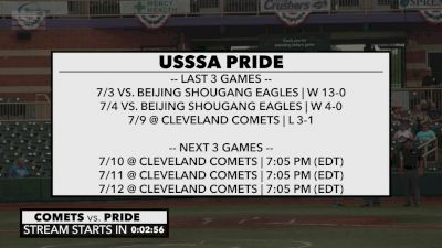Full Replay - 2019 USSSA Pride vs Cleveland Comets | NPF - USSSA Pride vs Cleveland Comets | NPF - Jul 10, 2019 at 5:56 PM CDT