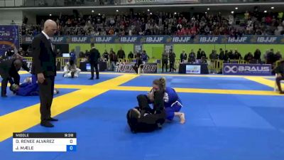 DANIELLE RENEE ALVAREZ vs JULIA MÆLE 2020 European Jiu-Jitsu IBJJF Championship