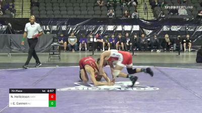 125 lbs 7th Place - Nolan Hellickson, Harvard vs Chris Cannon, Northwestern