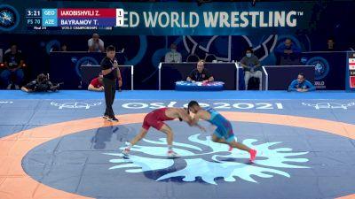 70 kg Final 3-5 - Zurabi Iakobishvili, Georgia vs Turan Bayramov, Azerbaijan